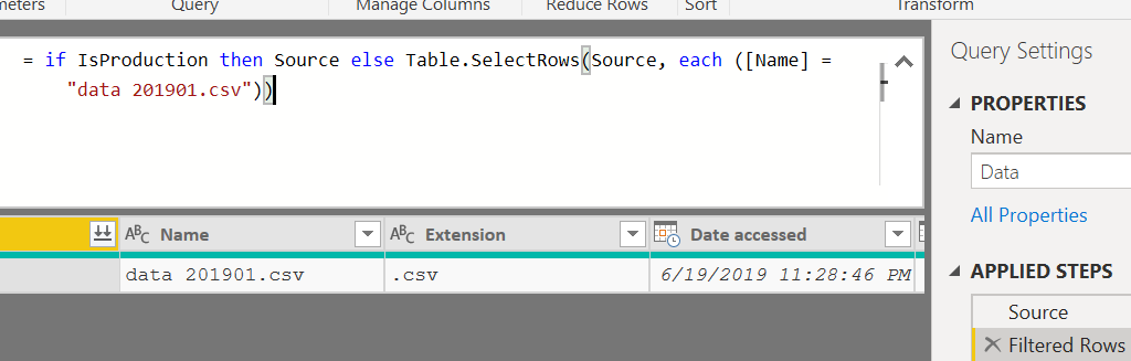 Development vs Production (Data Source Filtering)